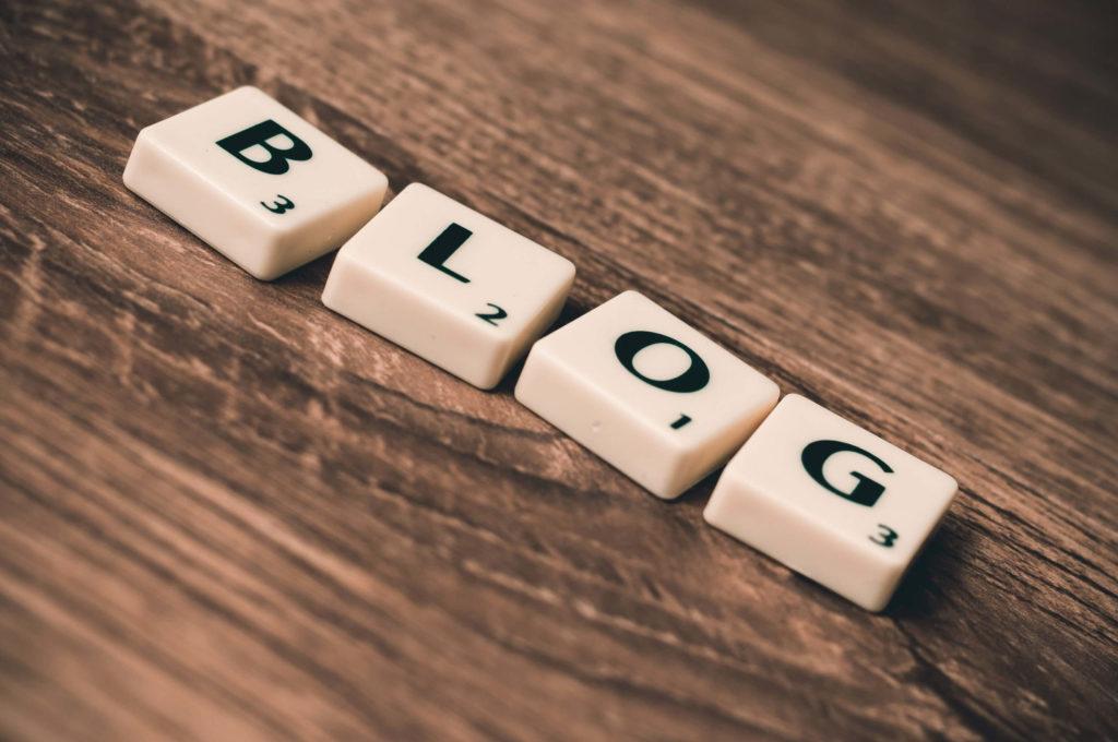 ブログと書かれたブロック